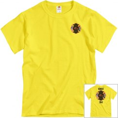 Fire Department Tee - Yellow