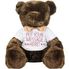 Custom Teddy Bear With Your Words