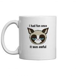 Grumpy cat fun mug