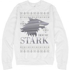 Metallic Silver House Stark Xmas