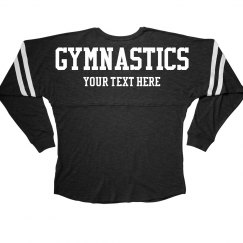 Custom Text Gymnastics Girl