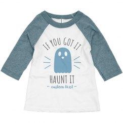 Haunt It Custom Toddler Raglan