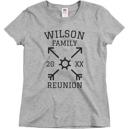 0673c8874 Custom Family Reunion Tees Ladies Relaxed Fit Basic Promo T-Shirt