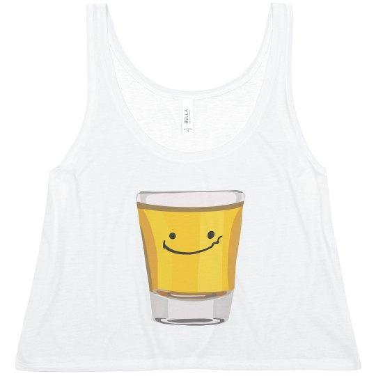 f7eee4810 Tequila Best Friends Shot Glass Art Ladies Flowy Boxy Cropped Tank Top