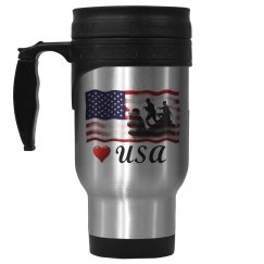 Love the USA stainless steel travel mug