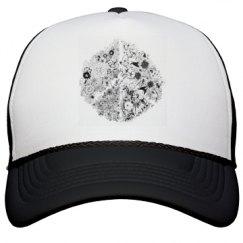 Floral Peace Sign Hat