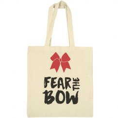 Fear the Bow Cheerleading Tote Bag