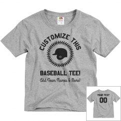 Custom Kids Baseball Name/Number