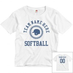 Custom Kids Softball Name/Number