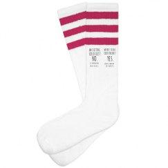 Unisex Striped Knee-High Socks