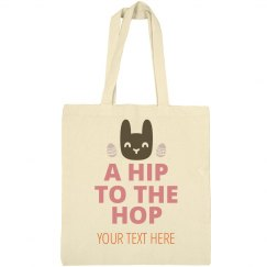Custom Hip Hop Bunny Easter Tote