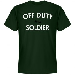 Off duty soldier