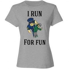 I run for fun shirt