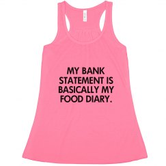 My Bank statement is basically my food diary