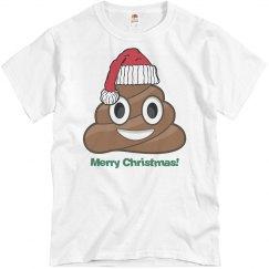 Lg Santa Poop Clause wht