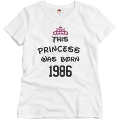 Princess born 1986