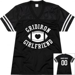 Football Gridiron Girlfriend Mesh Jersey Custom Text