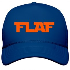 Solid color FLAF trucker hat