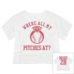 Trendy Baseball Bachelorette Jersey For the Bride to Be