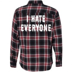 I Hate Everyone Flannel