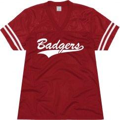 Badgers shirt.