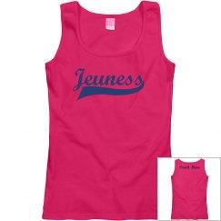 Jeuness Pink Tank Top (Track Mom)