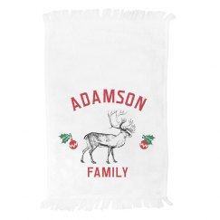 Custom Reindeer Family Towel