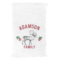 Custom Reindeer Family Towel