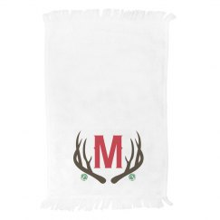 Custom Family Initial Holiday Towel