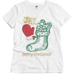 Merry Christmas Joy Stocking & Mitten