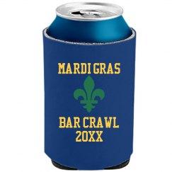Mardi Gras Beer Cooler