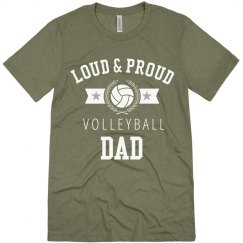 Loud Proud Volleyball Dad