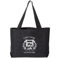 Seaside Cotton Canvas Pigment-Dyed Boat Tote Bag