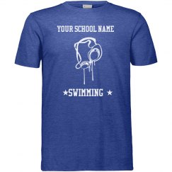 Add Your School Name Swimming T-Shirt