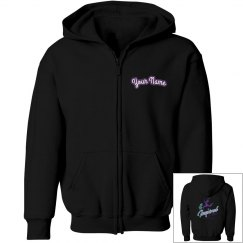 Boys i2m Competition Dance Team Logo Zip Up Hoodie