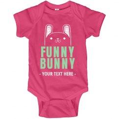Custom Easter Funny Bunny Onesie