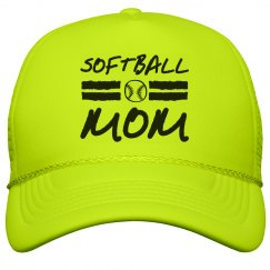 Softball Mom Snap Back Hat
