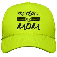 Softball Mom Snap Back Hat
