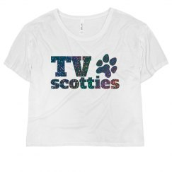 TV Scotties Glitter Flowy Crop Top