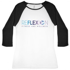 Reflexion Slim Fit Baseball Tee