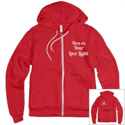 Red Turn on Your Love Light Hoodie