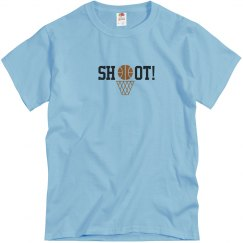 Basketball Shoot T-shirt blue