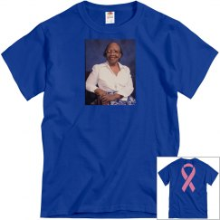 Blue tee w/granny Mac #2 graphic (without names)