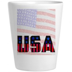 usa ceramic shot glass