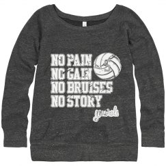No Pain, No Gain Sweatshirt #13 distressed