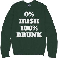 0% Irish Green Fleece