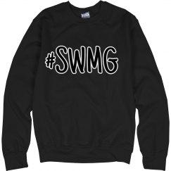 SWMG hashtag crewneck sweatshirt