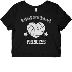 Cute Athletic Volleyball Princess