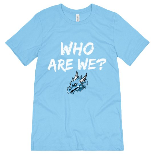#4 Unisex Tee-Bella Brand-Who are We? Blue