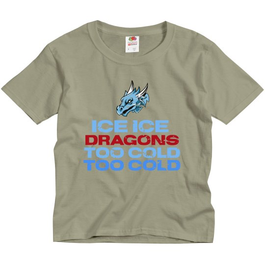 #4 Youth-Reg. Tee-Front of Loom Brand-Ice Ice